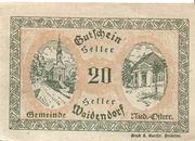 20 Heller (Waidendorf) – reverse