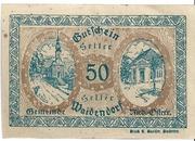 50 Heller (Waidendorf) – reverse