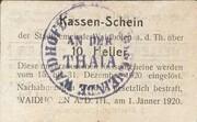 10 Heller (Waidhofen an der Thaya) – reverse