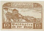 10 Heller (Waidhofen an der Thaya) – obverse