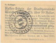 20 Heller (Waidhofen an der Thaya) – reverse