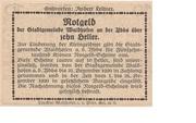 10 Heller (Waidhofen an der Ybbs) – reverse