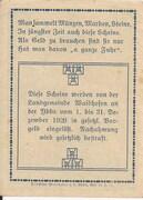 60 Heller (Waidhofen an der Ybbs) – reverse