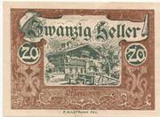 20 Heller (Wald im Pinzgau) – obverse