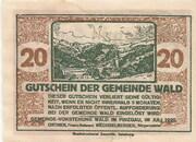 20 Heller (Wald im Pinzgau) – reverse