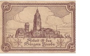 25 Pfennig (Bad Wildungen) – reverse