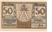 50 Pfennig (Arolsen) -  obverse