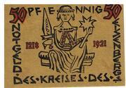 50 Pfennig (Kreis des Eisenbergs) – reverse