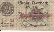25 Pfennig (Korbach) – obverse