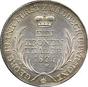 1 Kronenthaler - Georg Friedrich Heinrich – reverse