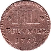 4 Pfennige - Karl August Friedrich – reverse