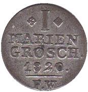 1 Mariengroschen - Georg Heinrich – reverse