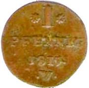 1 Pfennig - Georg Friedrich Heinrich – reverse