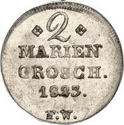 2 Mariengroschen - Georg Friedrich Heinrich – reverse