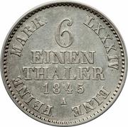 ⅙ Thaler - Georg Friedrich Heinrich – reverse