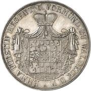 2 Thaler / 3½ Gulden - Emma Princess Regent – obverse