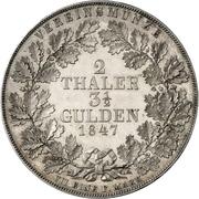 2 Thaler / 3½ Gulden - Emma Princess Regent – reverse