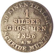 1 Groschen - Georg Friedrich Heinrich – reverse