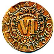 6 Pfennig - Karl August Friedrich – reverse