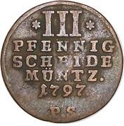 3 Pfennig - Friedrich – reverse
