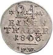 1/24 Thaler - Georg – reverse