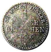 1 Silber Groschen - Georg Heinrich – reverse