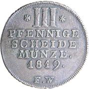 3 Pfennige - Georg Heinrich – reverse
