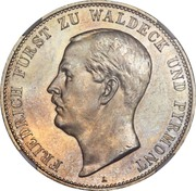 5 Mark - Friedrich Adolf Hermann – obverse