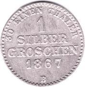 1 Silbergroschen - Georg Victor – reverse