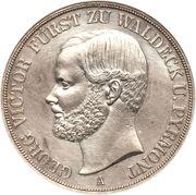 2 Thaler / 3½ Gulden - Georg Victor – obverse