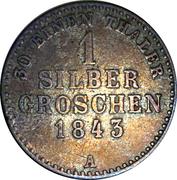 1 Silbergroschen - Georg Friedrich Heinrich – reverse