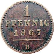 1 Pfennig - Georg Victor – reverse