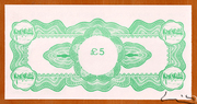 5 Pounds - Chief Treasury of Wales Limited – reverse