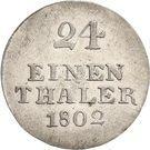 1/24 Thaler - Johann Ludwig – reverse