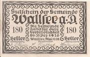 180 Heller (Wallsee) -  obverse