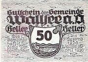 50 Heller (Wallsee) – obverse