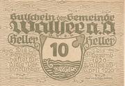10 Heller (Wallsee) – obverse