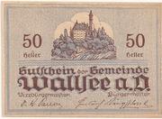 50 Heller (Wallsee) – reverse