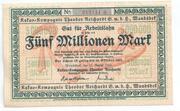 5,000,000 Mark (Kakao-Kompagnie Theodor Reichardt) – obverse