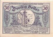30 Heller (Wang) – obverse