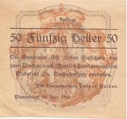 50 Heller (Waxenberg) -  obverse