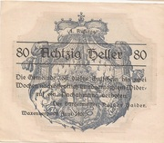 80 Heller (Waxenberg) -  obverse
