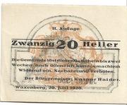 20 Heller (Waxenberg) -  obverse