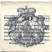 50 Heller (Waxenberg) – obverse