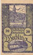 20 Heller (Wechling) – obverse