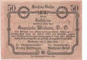 50 Heller (Weibern) -  reverse