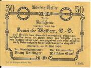 50 Heller (Weibern) -  obverse