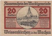 20 Heller (Weissenkirchen in der Wachau) – obverse