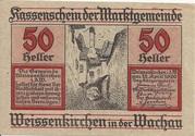 50 Heller (Weissenkirchen in der Wachau) – obverse