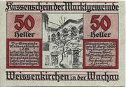 50 Heller (Weissenkirchen) – obverse